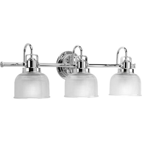 Progress Lighting logo Progress Lighting P2992-15 Archie 3 Light Bathroom Vanity Light with Prismatic Shades