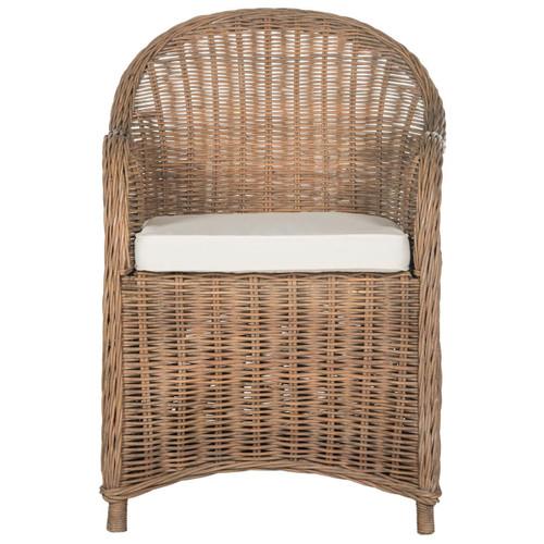 Safavieh SEA7002A Hemi 35.5 Inch Tall Fabric Arm Chair