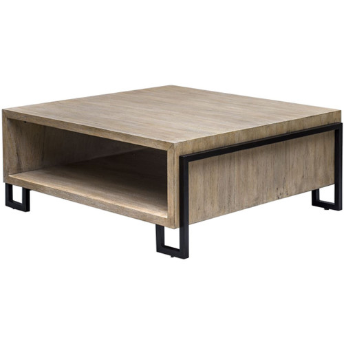 """Uttermost 25876 Kailor 42"""" Long Iron and Metal Coffee Table"""