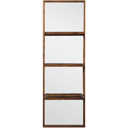 """Uttermost 04171 Dalis 47-1/4"""" x 16"""" Glass and Iron Wall Mounted Shelf"""