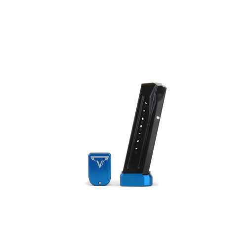 Taran Tactical +2/4 S&W Basepad for S&W M&P in 9mm & 40 Blue