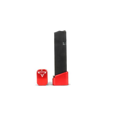 Taran Tactical +5/6 Glock Basepad in 9mm & 40 S&W Red