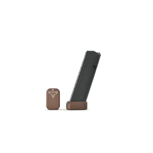 Taran Tactical +2/3 Glock 19 Basepad in 9mm & 40 S&W Coyote Bronze Brown