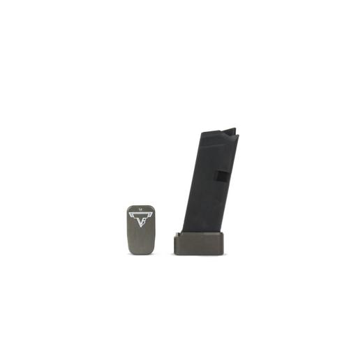 Taran Tactical Glock 42 +2 Basepad Titanium Gray