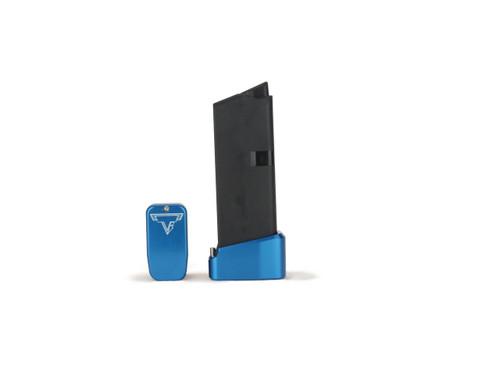 Taran Tactical Glock 43 +2 Basepad Blue