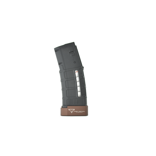 Taran Tactical +5 AR PMAG Extension Coyote Bronze Brown