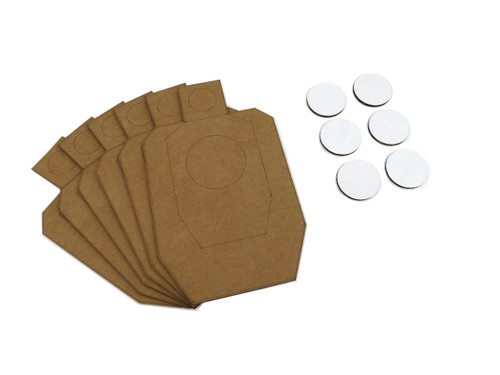 Scaled Dryfire Target Kit including IDPA Style Targets, and Dots