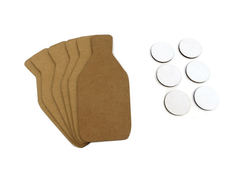 Scaled Dryfire Target Kit including FBI Q Style Targets, and Dots