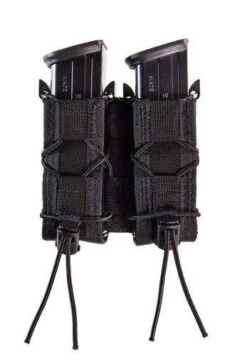 High Speed Gear Double Taco Pistol Mag Pouch - Molle Black