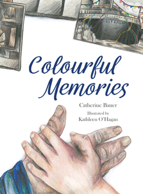 Colourful Memories by Catherine Bauer. When Charlie comes to visit Opa she looks through his old boxes and photographs. Opa tells Charlie about the colour she cannot see in the black-and-white pictures.