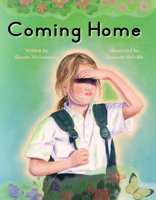 Coming Home by Sharon McGuinness. Gemma watches her dad as he sits alone in his tangled garden. She doesn't understand why he seems so sad. Can she help her dad find his way home?  Recommended title: Family Therapists Australia