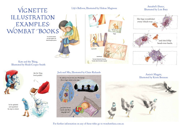 School Pack: Illustration Vignette Books