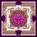 This violet silk scarf is designed for the seventh chakra