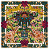 Luxury 100% Silk Scarf Designed Specifically Around the Root Chakra