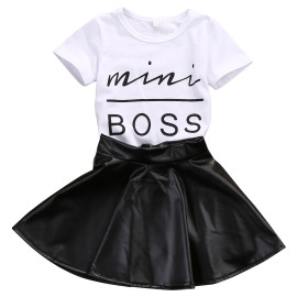 MINI BOSS FAUX SKATER SKIRT SET