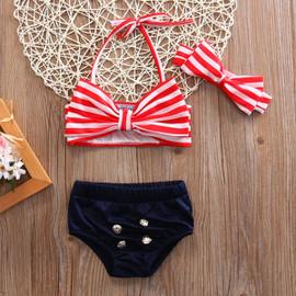 Mini Me Liani  Retro Style High Waist Two Piece Swimsuits