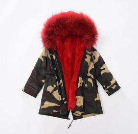 The Original CAMO PRINT FUR PARKA Coat (FOR TODDLERS - CHILD)