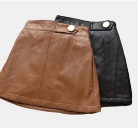Sarahi Chic Faux-Leather skirt