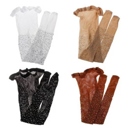 Girls Sparkle Rhinestone Fishnet Pantyhose