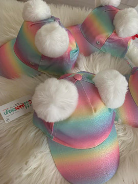 POM POM EAR Ombre Rainbow Glitter Hat(TODDLER & KIDS)