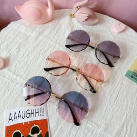 Amelia Metal Round Rimless Frame Sunglasses KIDS