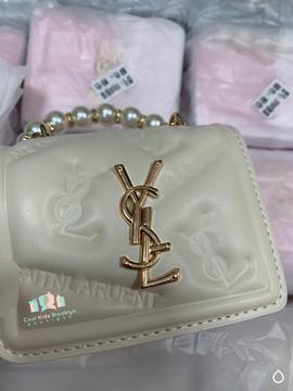 YARA Mini Faux Pearl Strap Crossbody Bag(Toddlers & Girls)