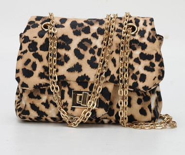AVA Mini Crossbody Handbags In Leopard