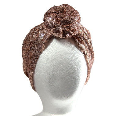 handmade Sequin Rose Gold TURBAN