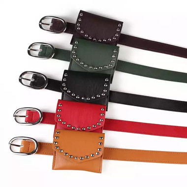 MINI COIN STUDDED FANNY PACKS (Toddler~Teens)