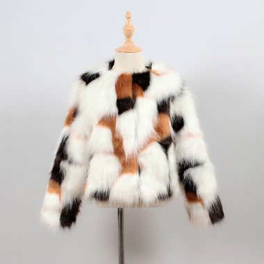 CALICO MINI  FAUX FUR JACKET (FOR TODDLERS - TEEN)