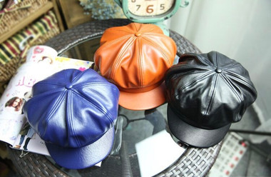 Faux Leather Hat Cap (child)