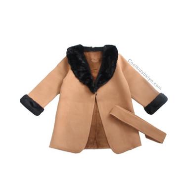 Sarahi Wool FAUX FUR Trench Coat (Toddlers & Girls