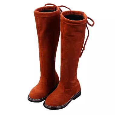 BROOKLYN-Over the knee children-high Boots(BROWN)