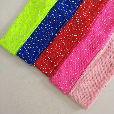 Rainbow Bedazzled Sparkle Rhinestone Fishnet
