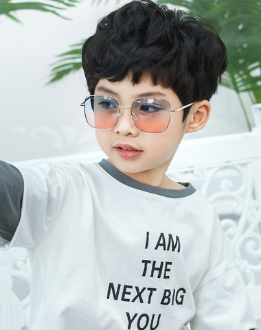 New Kids Boys Girls Fashion Square Sunglasses Reflective