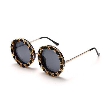 Vintage Round Retro Steampunk Sunglasses Children