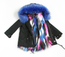 Keep Me Cozy The Original COLORBLOCK FAUX PARKA Coat(Royal Blue)