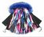 Keep Me Cozy The Original COLORBLOCK FAUX PARKA Coat(Royal Blue)