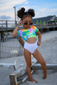 Tie Dye One Piece Swimsuit(Toddler & Girls)