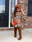 Modern Child Plaid Poncho Without Fringe Toddler & Girls