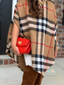 Modern Child Plaid Poncho Without Fringe Toddler & Girls