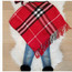 Modern Child Plaid Poncho With Fringe Toddler & Girls