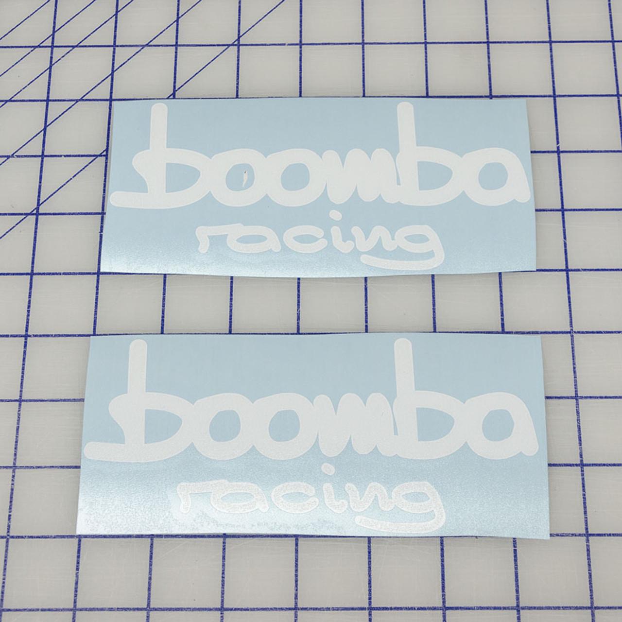 Boomba Racing Precision Cut WHITE Vinyl Stickers