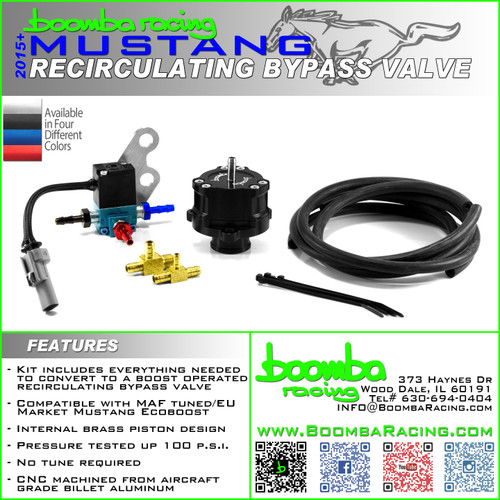 2015 + Ford Mustang Ecoboost Boost Operated Bypass Valve (Adjustable)