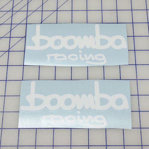 Boomba Racing Precision Cut WHITE Vinyl Stickers