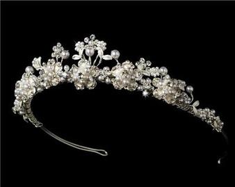 Elegant Pearl Bridal Tiara WT6443