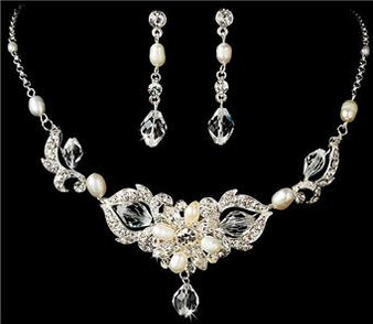Couture Freshwater Pearl Bridal Wedding Prom Jewelry Set WS7804