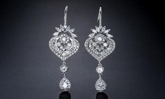 Elegant Cubic Zirconia Chandelier Earrings