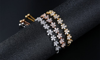 inexpensive bridal bracelets in silver, gold, or rose gold