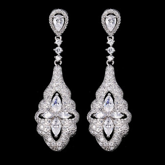 All clear bridal earrings